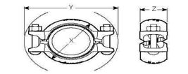 2Bolt Victaulic Diagram